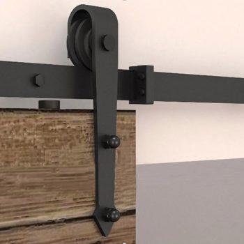 12 ft black antique style sliding barn wood door hardware for 12 foot sliding glass door cost