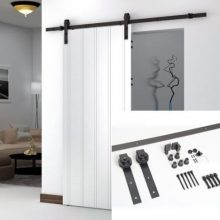 6.6 FT American Antique Style Sliding Barn Wood Door Hardware Closet Set