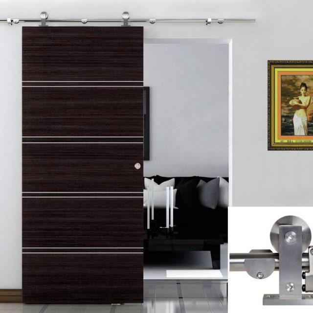6 Ft Sliding Window : Ft modern sliding door hardware kit stainless steel