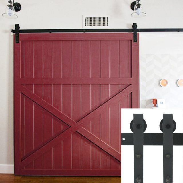 10FT Country Barn Wood Steel Sliding Door Hardware Closet Set Antique Style