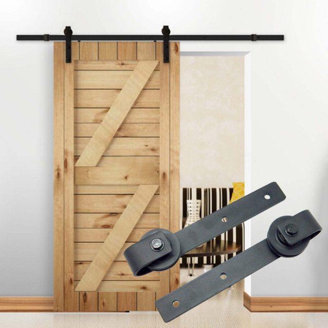 10FT Country Barn Wood Steel Sliding Door Hardware Closet Set Antique Style
