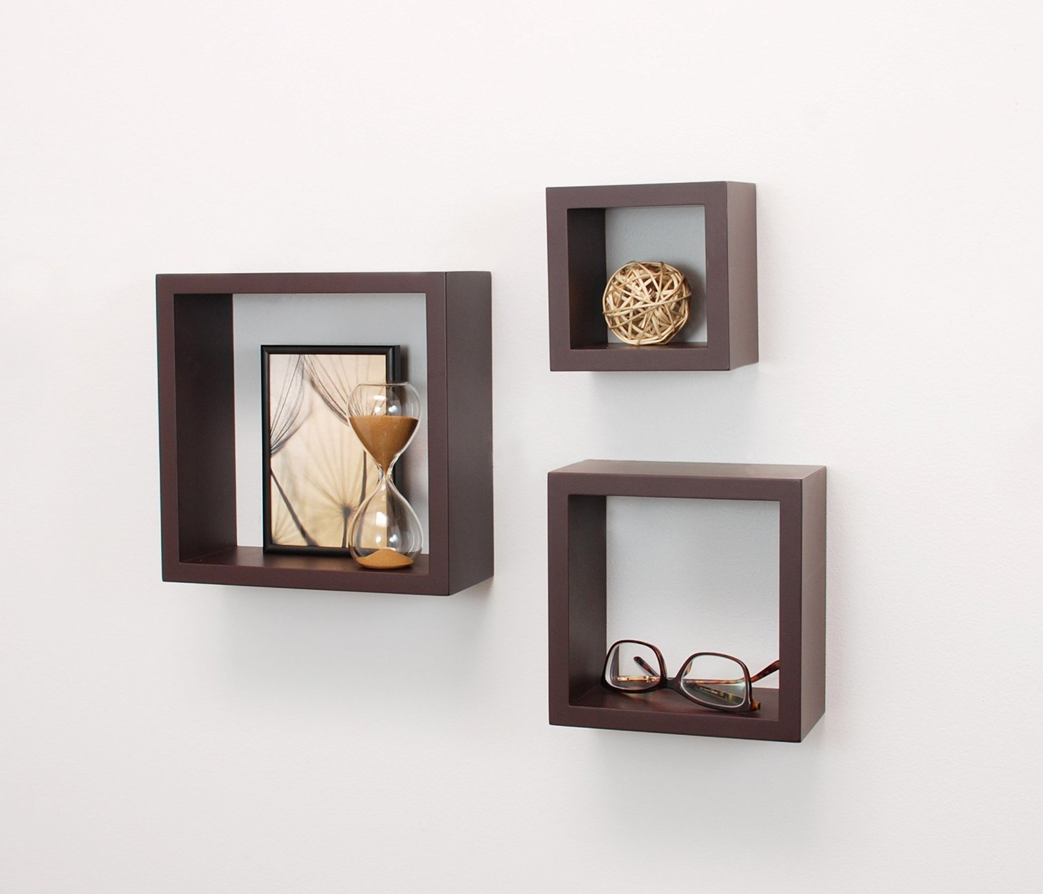 Cubbi Contemporary Floating Wall Shelves, 5 by 5 Inch , 7 by 7 ...