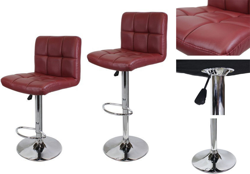 Red Stool  sc 1 st  KoDecor & Set of 2 Roundhill Furniture Swivel Modern Bonded Leather ... islam-shia.org