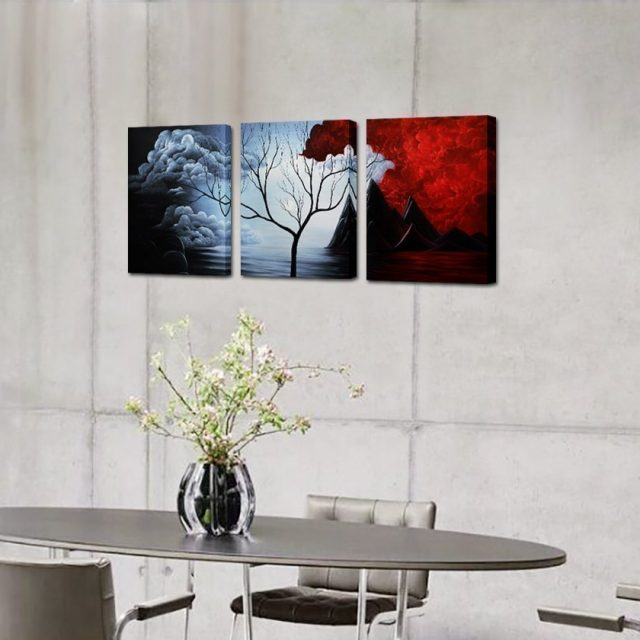 Modern Abstract Painting the Cloud Tree High Q. Wall Decor Landscape Paintings