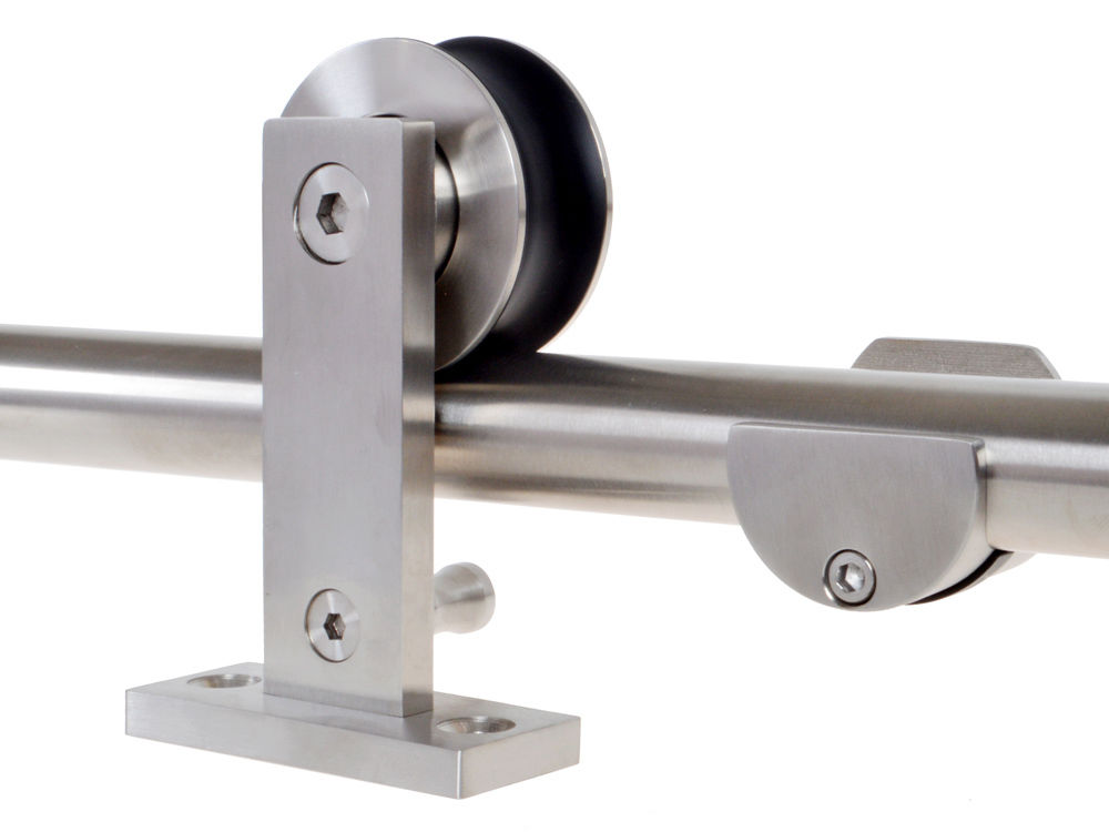 6 6 Ft Modern Sliding Door Hardware Kit Stainless Steel