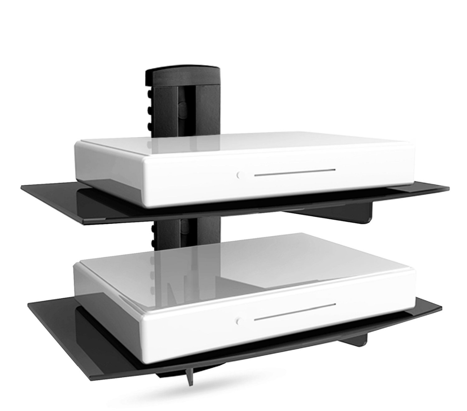 Floating Shelf With Strengthened Tempered Glass For Dvd
