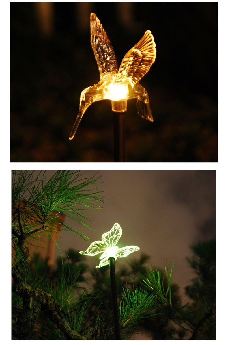 Solar Powered Outdoor Hummingbird Butterfly Amp Dragonfly